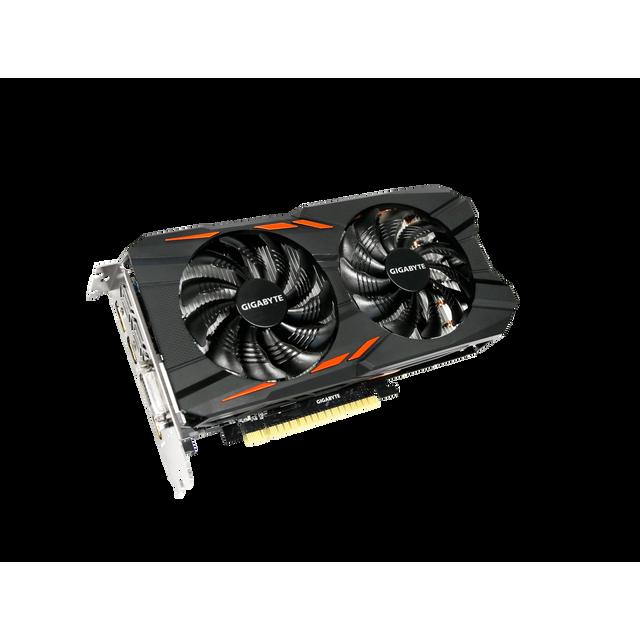 GIGABYTE GeForce GTX 1050Ti Windforce OC 4G Chaque joueur mérite la meilleure expérience de jeu, c'est pourquoi nous avons créé la carte graphique GeForce® GTX 1050, aussi puissante que rapide. Transformez votre PC en