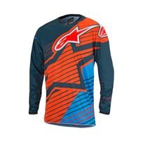 Alpinestars - Maillot Racer Braap 7074 Orange Bleu