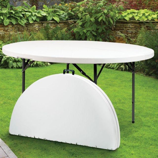 D Table D'appoint Portable 122 Pliante Ronde Idmarket Cm Pas ZPiOkXu