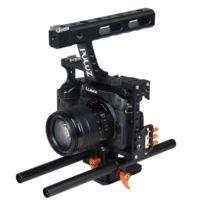 Wewoo - Pour Sony A7 & A7S orange & A7R & A7R Ii et A7S Ii, Panasonic Lumix Dmc-gh4 Stabilisateur de poignée Cage