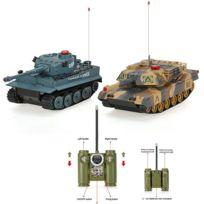Avec Tank Infrarouge Rc Battle Jouet Télécommandé Son De Led 2pcs Ensemble MVUzpS