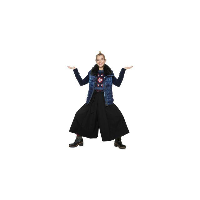 Desigual - Manteau Femme Alexandra Bleu et Motifs Fleur 18WWEW87 - Taille -  38 - pas cher Achat   Vente Blouson femme - RueDuCommerce 352691ab26e3