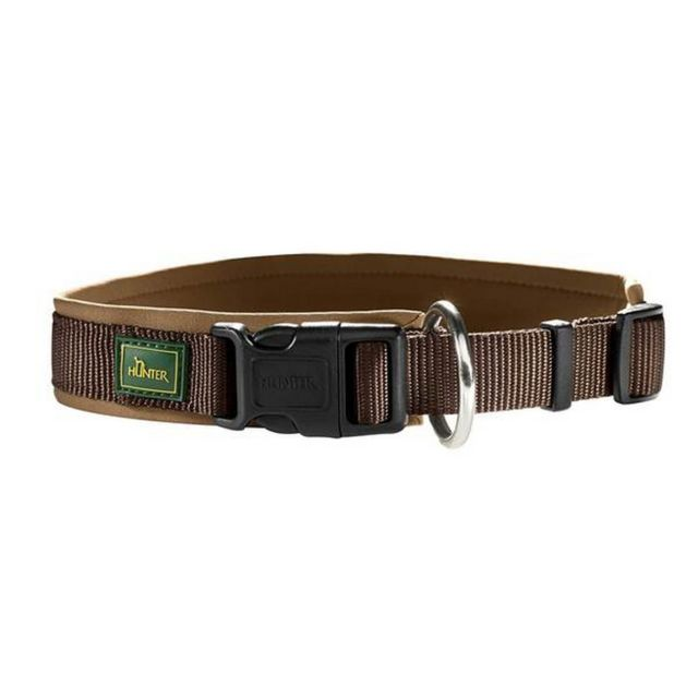 Hunter Collier en nylon - Chien 65, Marron/Chameau Utvp402