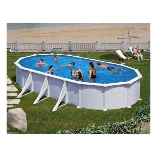 Gre pools kit piscine hors sol acier ovale atlantis avec for Piscine dinosaure