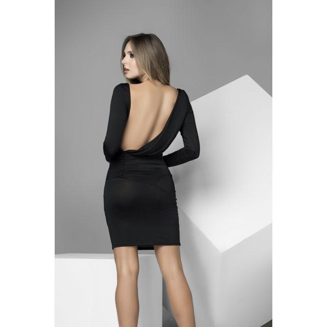 nouveau style de vie nouvelles photos codes promo Mapale - Robe sexy noire manches longues - Dos nu - pas cher ...