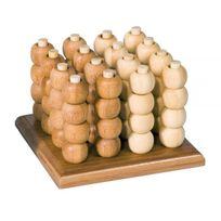 Fridolin - Puissance 4 en 3D - grand modèle - 64 billes - bambou