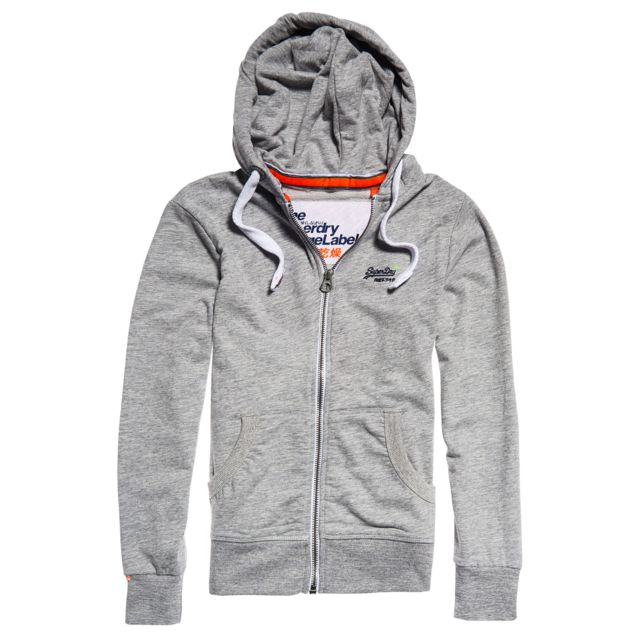 Superdry Orange Label Lite Sweat Zip Cap Homme Taille L