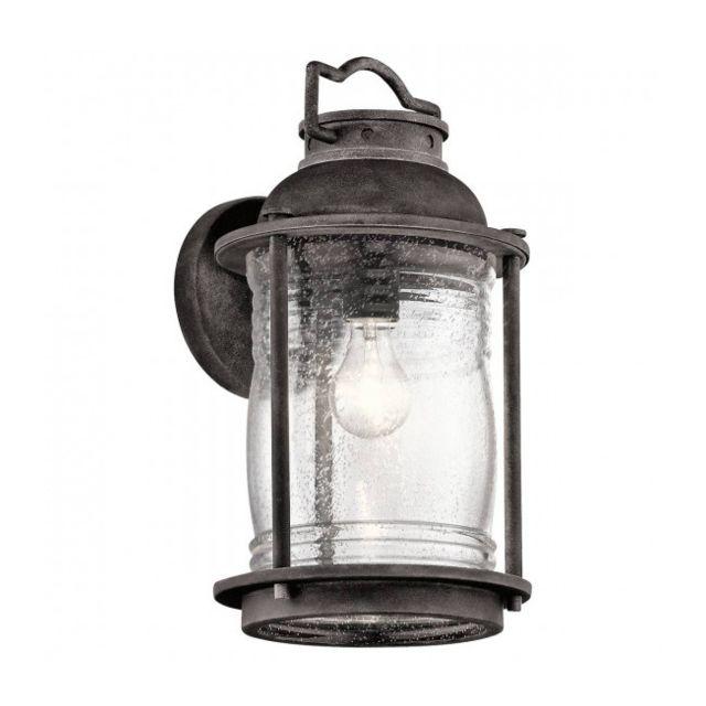 Elstead Lighting Applique extérieure Ashland Bay, zinc, verre, grand modèle