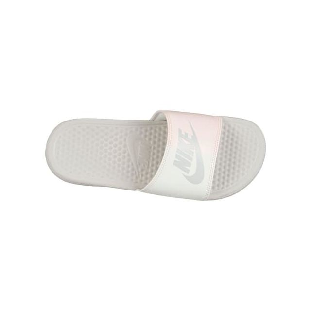 Nike - Claquettes Benassi Just Do It blanc rose femme - pas ...