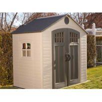 LIFETIME - Abri de jardin PVC avec étagère - 3,71 m²