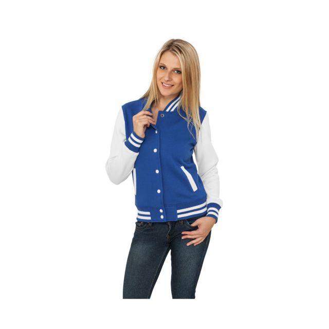 Urban Classics - Veste Teddy Ladies Bleu roi   Blanc College - pas cher  Achat   Vente Blouson homme - RueDuCommerce 6f387de18df5
