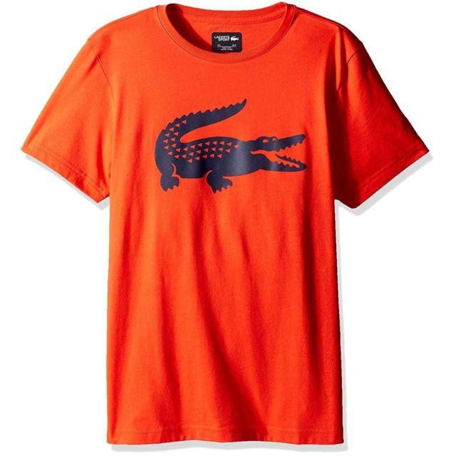 39d9c730b5 Lacoste - Tee-shirt - Th5809-00DFP Orange - pas cher Achat / Vente Tee shirt  homme - RueDuCommerce