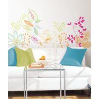Mon Beau Tapis - Stickers Fleurs Riviera Multicolor Géant Roommates Repositionnables 48x27cm