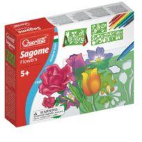Quercetti - Set de 4 Pochoirs - Sagome : Fleurs