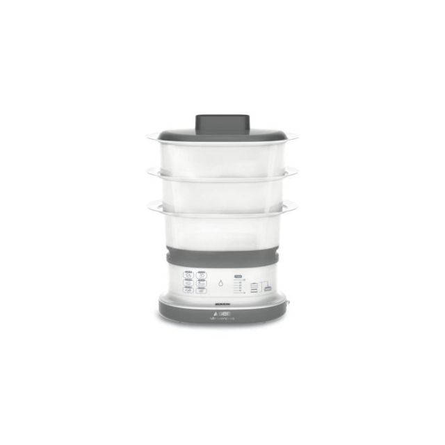 Steamer Food Autocuiseur 1.8 L Capacité Gris Compact bol en céramique