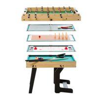 Rendez vous déco - Table multi-jeux pliable 16 en 1