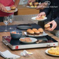 - Plateau chauffant à thermostat réglable - Chauffe plat de table