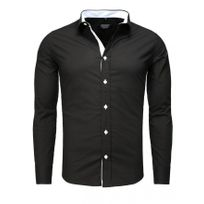 Beststyle - Chemise homme stylée noir