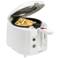 Bestron - Friteuse avec filtre anti-odeur - Capacité 2L 1800W - Design blanc