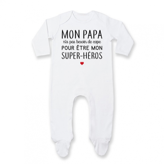 e057ea992372f 1.2.3 Soleil! - Pyjama bébé Mon papa   super-héros - pas cher Achat ...