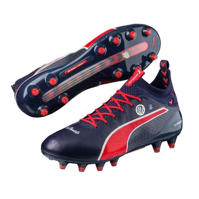d8c4fc7883a3d1 Puma - Chaussures football Evotouch Pro Derby Fever Fg Bleu - pas ...