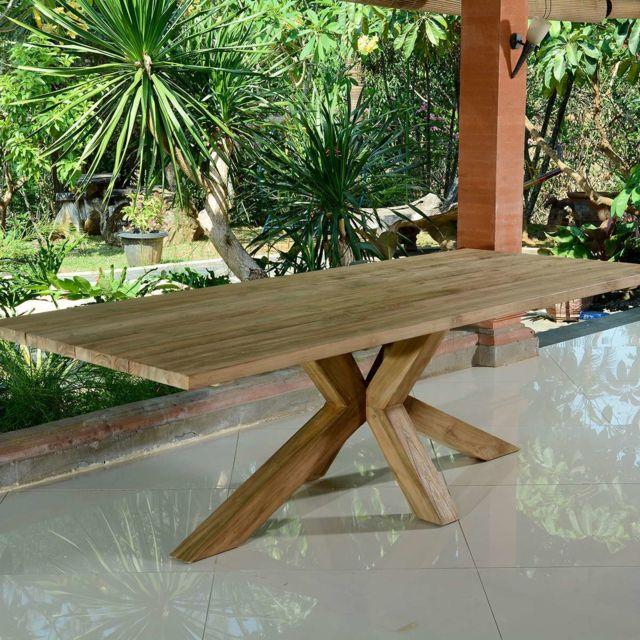 TECK\'ATTITUDE - Table en teck recyclé 250 cm Conceptual - pas cher ...