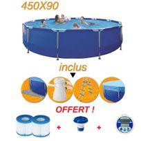 Jilong - Offre spéciale avec votre piscine hors sol tubulaire 450 x 90 cm
