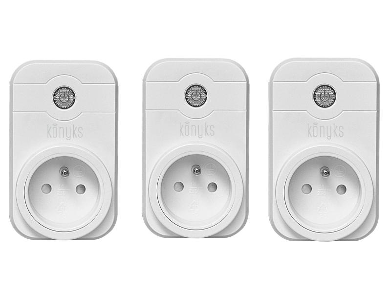 3 Prise pilotée Wifi compatible Google Home et Amazon Alexa