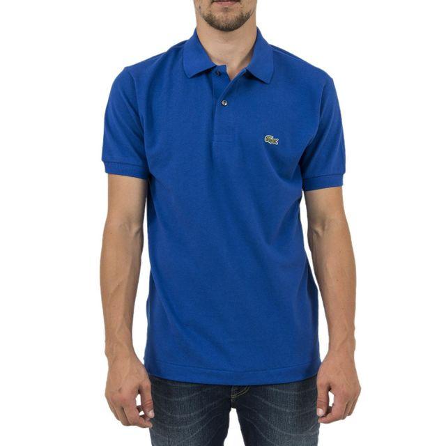 e92219641c770 Lacoste - Polos l1212 bleu - pas cher Achat   Vente Polo homme -  RueDuCommerce