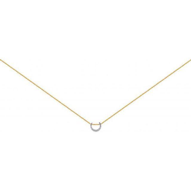 tout neuf 6ae68 2af41 Collier et pendentif 70271870108 - Collier et pendentif Chaine Dorée Lune  Femme