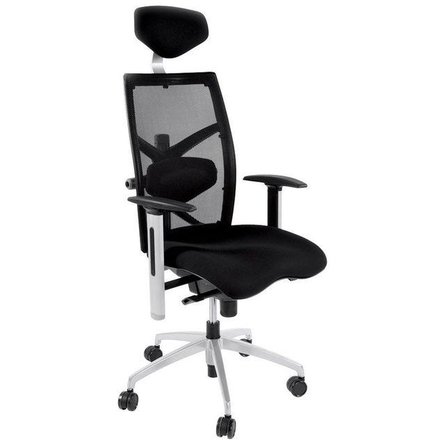 Alterego Fauteuil de bureau ergonomique 'OSLO' en tissu noir