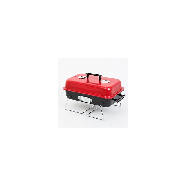 Alpexe Barbecue exterieur rouge rectangle petit