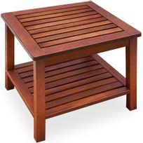 Rocambolesk - Superbe Table d'appoint en bois d'acacia - 45x33x45cm neuf