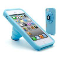 Caseink - Coque iPhone 5 Vintage Photo Bleue