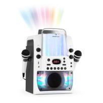 Kara Liquida BT Chaîne karaoké Jeu de lumières Fontaine d'eau Bluetooth - blanc/gris