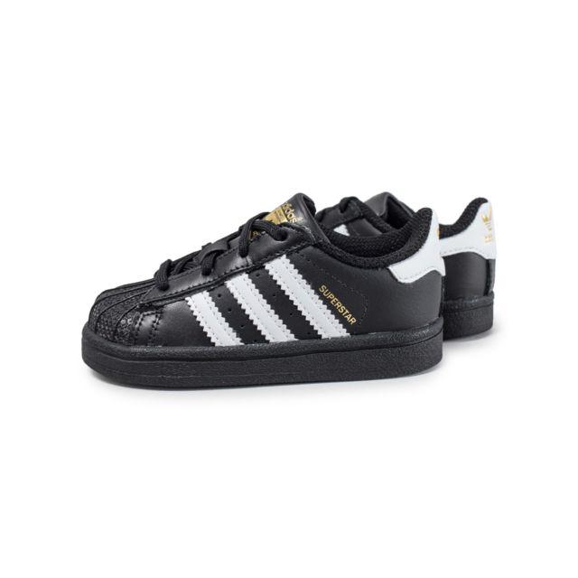 Adidas Superstar Bébé Noire Et Blanche pas cher Achat