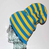 Neff - Bonnet Réversible Long Popsy Blue Yellow
