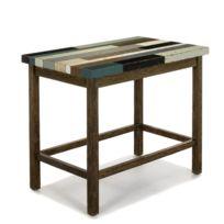 alin a manaka table haute bar rectangulaire l130cm pas cher achat vente bars. Black Bedroom Furniture Sets. Home Design Ideas
