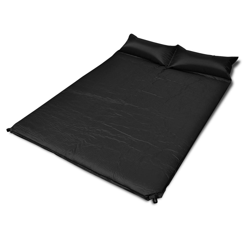 Rocambolesk - Superbe Matelas autogonflant noir 190 x 130 x 5 cm 2 personnes, Neuf