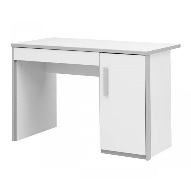 terre de nuit bureau enfant blanc et gris bu5006 pas cher achat vente bureaux rueducommerce. Black Bedroom Furniture Sets. Home Design Ideas