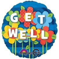ToyCentre - Amscan Get Well Garden Foil Balloon Standard