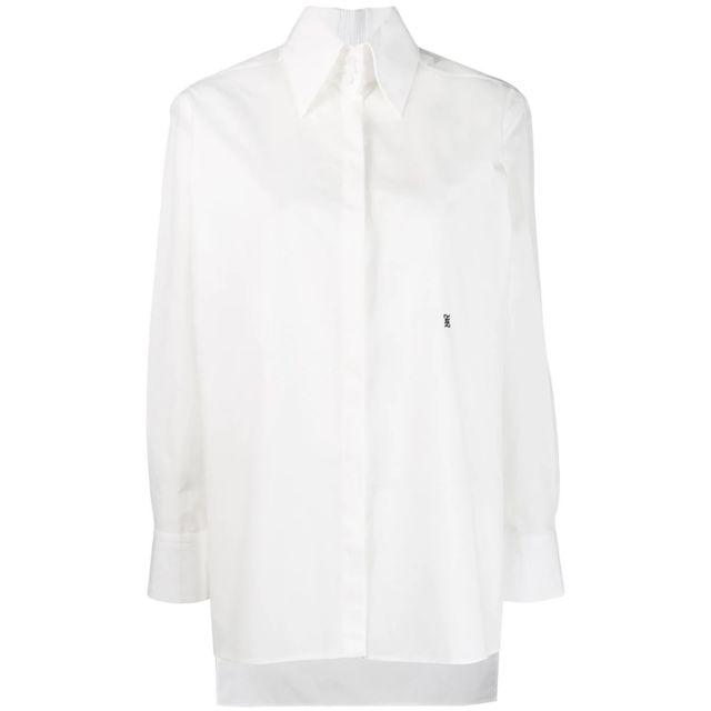 Fendi Femme Fs7223A0MYF0ZNM Blanc Coton Chemise