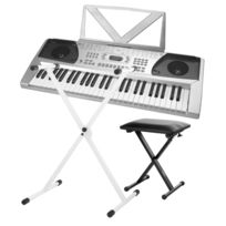 Funkey - 54 Keyboard Set incl. support de clavier en argent + Banc