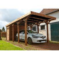Madeira - Carport 1 voiture bois traité autoclave - Harry