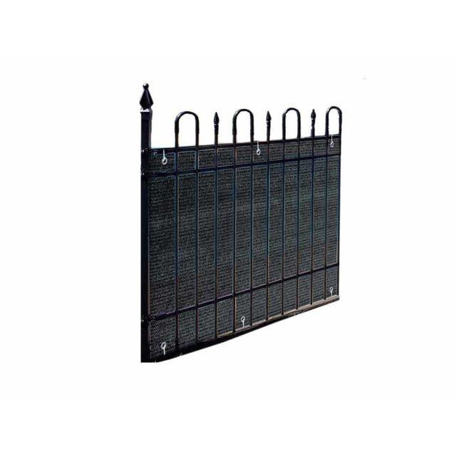 Claustra Balcon jardideco - brise vue pour balcon 500 x h.90 cm ardoise - pas cher