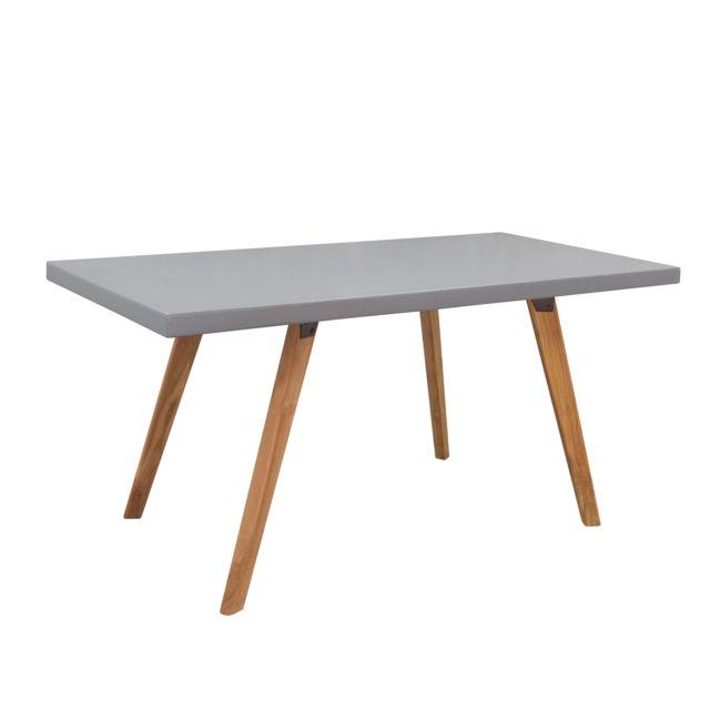 Rendez Vous Deco Table rectangulaire Clyde 160 cm en béton