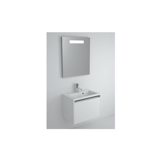 Riho Ensemble meuble & lavabo Eifel Set 20 en bois laqué brillant 60x38 H 45 cm