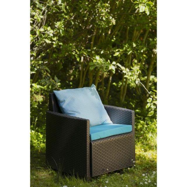 Coussin D\'EXTERIEUR - Coussin De Bain De Soleil - Coussin De Chaise De  Jardin Set de 2 coussins Assise + Dossier pour salon de jardin Fjord - 54 x  50 ...