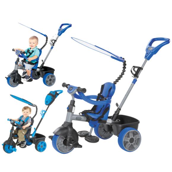 Rocambolesk - Superbe Tricycle Deluxe 4 en 1 bleu Little Tikes Neuf