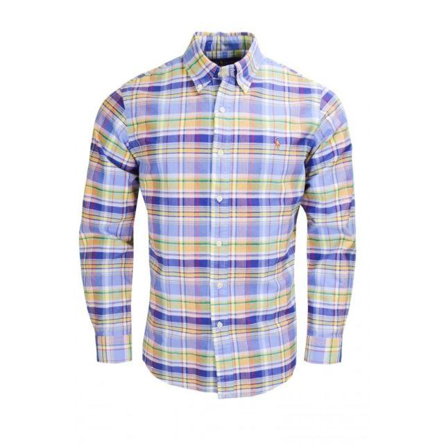 Ralph Lauren - Chemise à carreaux multicolore pour homme - pas cher Achat   Vente  Chemise homme - RueDuCommerce d1846d902937